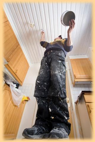 Malování stropů a stěn